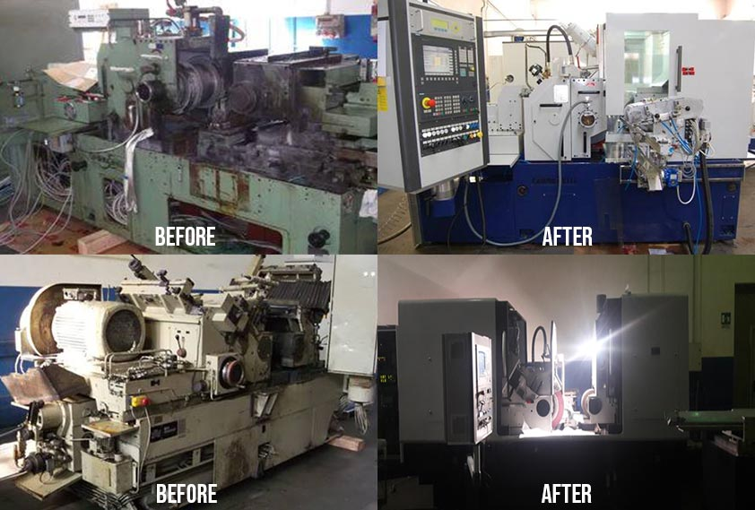 Lavorazioni Retrofit, Rettificatrici Senza Centri, Special Machine Tools